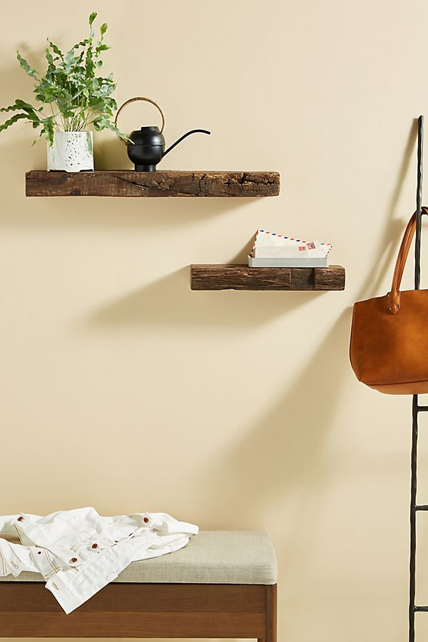 Slide View: 1: Reclaimed Wood Shelf
