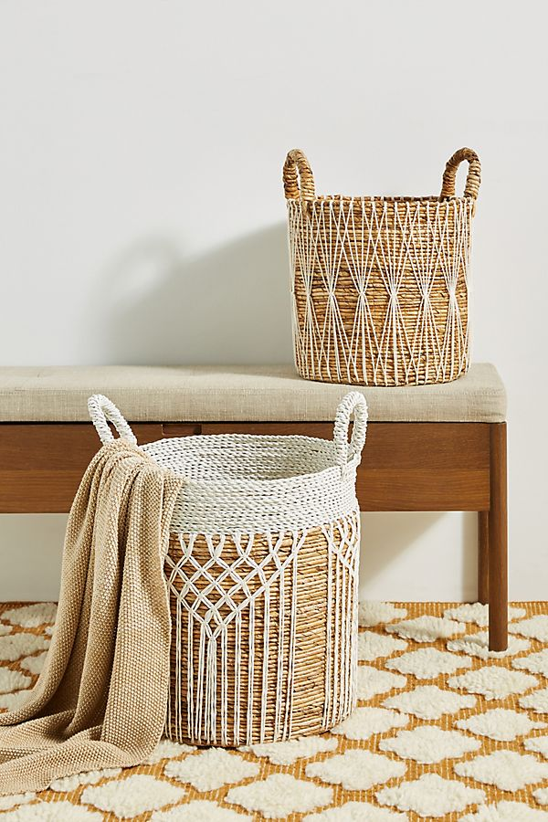 Slide View: 1: Skye Crocheted Basket