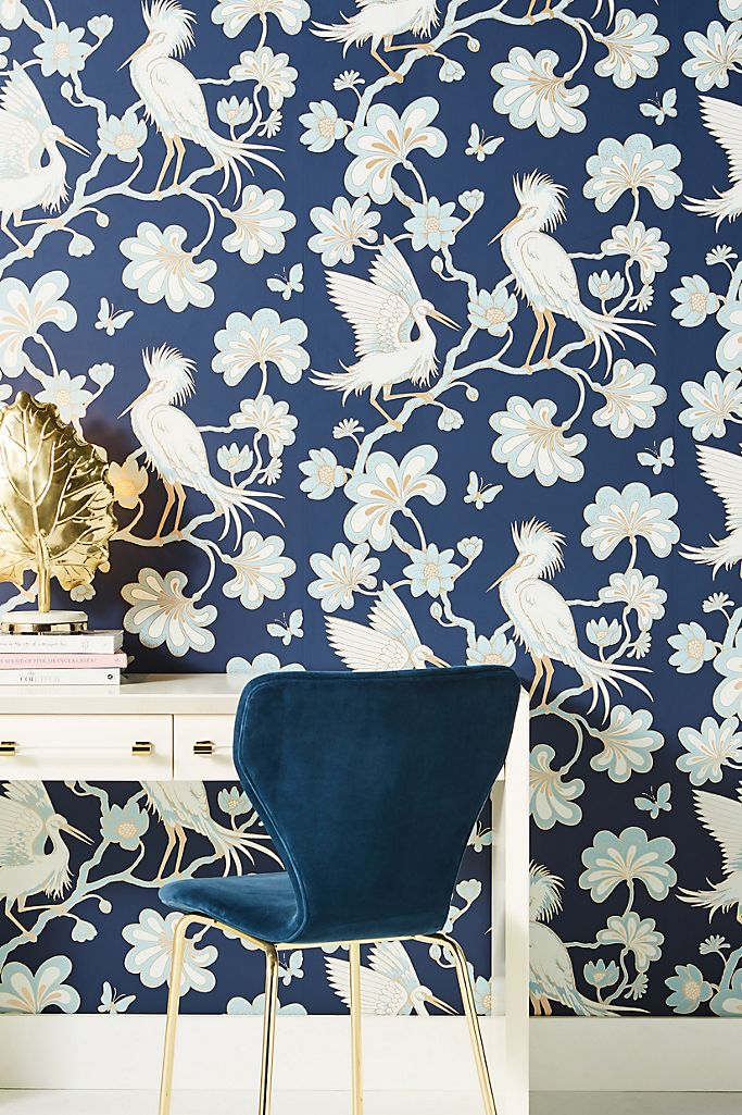 Egrets Wallpaper Anthropologie