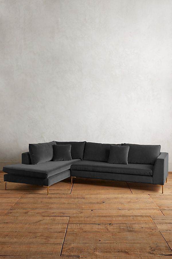 Velvet Edlyn Left Corner Sofa