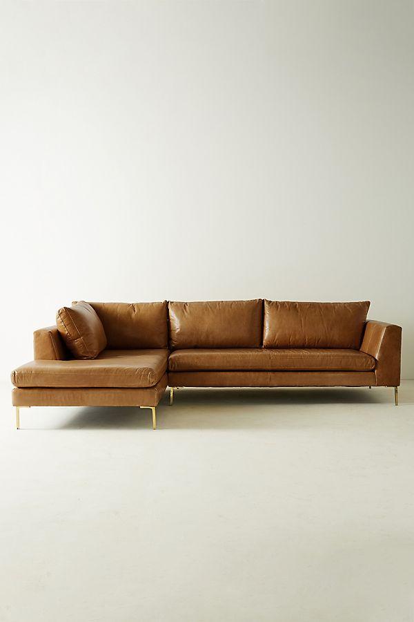Edlyn Left Arm Corner Sofa, Leather
