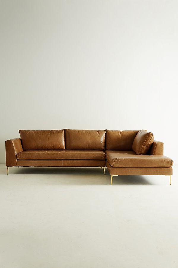 Edlyn Right Arm Corner Sofa, Leather