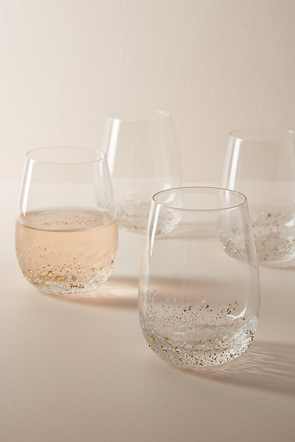 Slide View: 1: Volcania Stemless Wine Glasses, Set of 4
