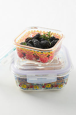 Slide View: 2: Luann Glass Storage Container