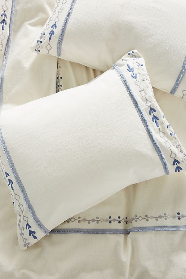 Cotton Embroidered Pillow Cases