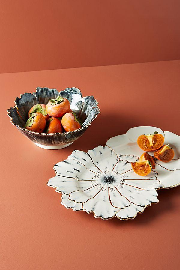 Slide View: 3: Papetal Floral Serving Platter