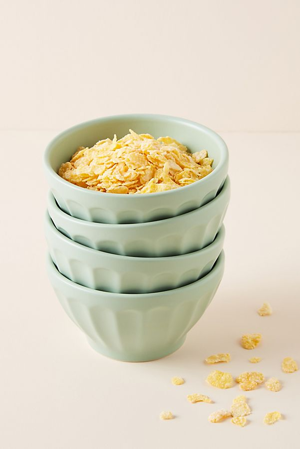Slide View: 1: Matte Latte Bowls, Set of 4