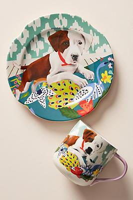 Slide View: 2: Jay McClellan Studio Bone Appetit Dessert Plate