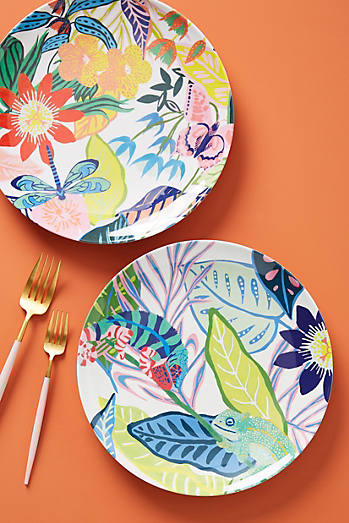 Tropical Melamine Nut Bowls, Set Of 3 by Anthropologie