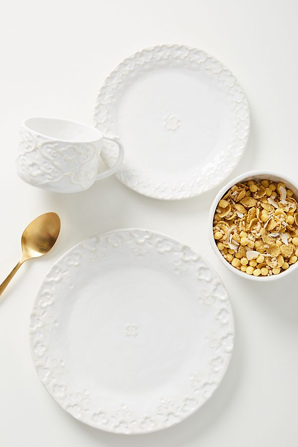 Slide View: 1: Rashida Dinner Plates, Set of 4