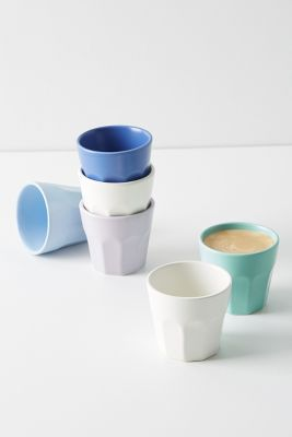 Matte Latte Espresso Cups, Set Of 6 by Anthropologie