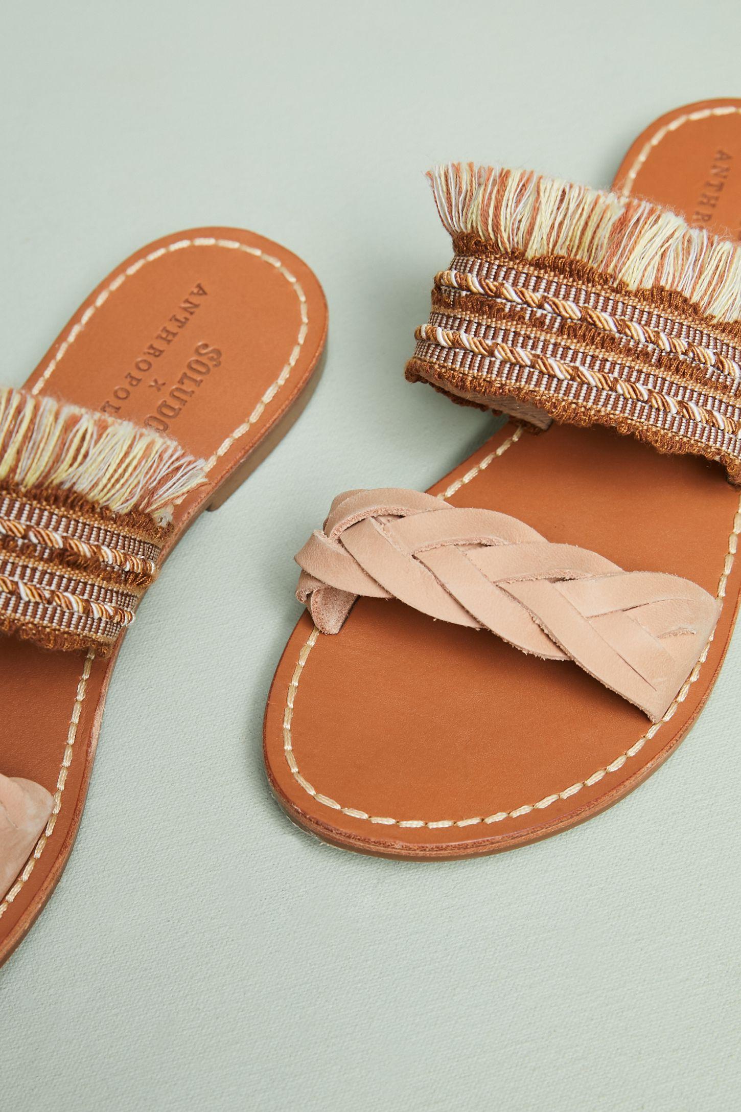 a2b989c15604 Soludos x Anthropologie Panarea Braided Slide Sandals