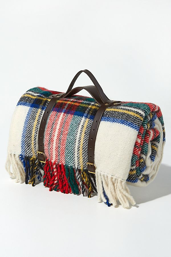 Tweedmill Striped Fringed Wool Picnic