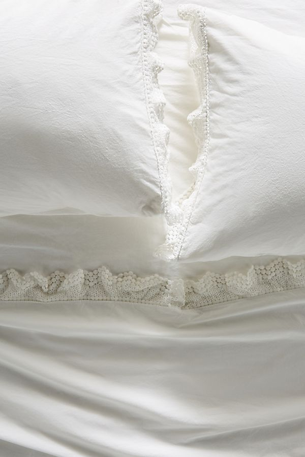 Slide View: 1: Embellished Chevron Percale Sheet Set