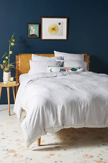 Stitched Linen Shams, Set Of 2 by Anthropologie