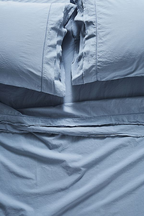 Slide View: 1: Joey Washed Percale Sheet Set