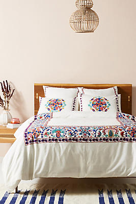 Embroidered Aricota Duvet Cover by Anthropologie
