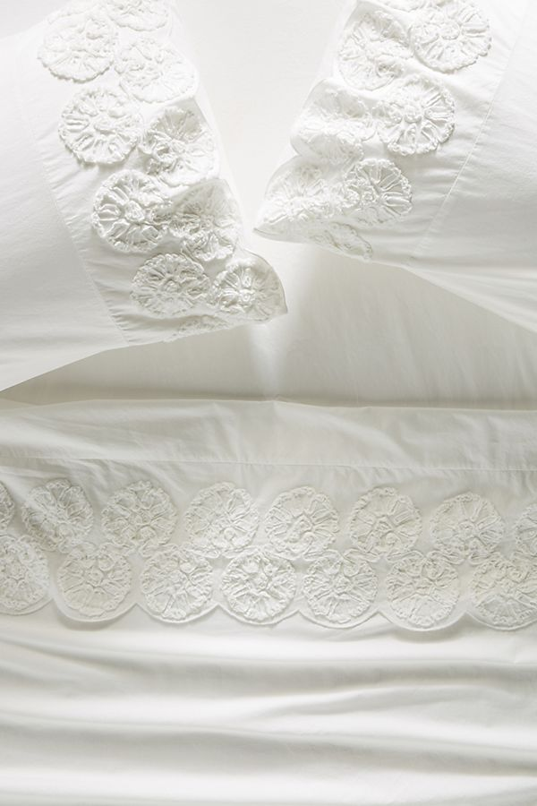 Slide View: 1: Embellished Floriana Sheet Set