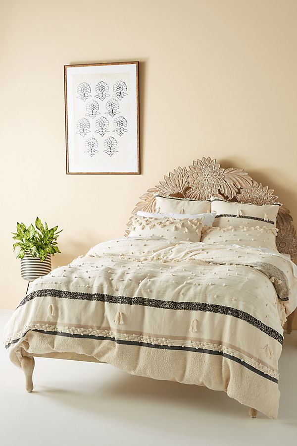 Slide View: 1: All Roads Textured Yucca Duvet Cover