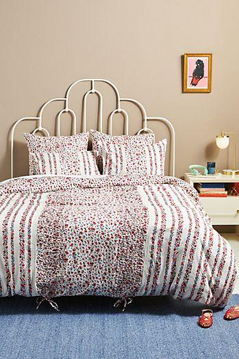 Frayed Edge Duvet Cover Queen Boho Geometric Cotton Biege Bedding Cover,86x90