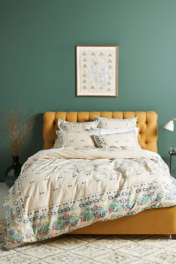 Slide View: 1: Woven Bellezza Duvet Cover