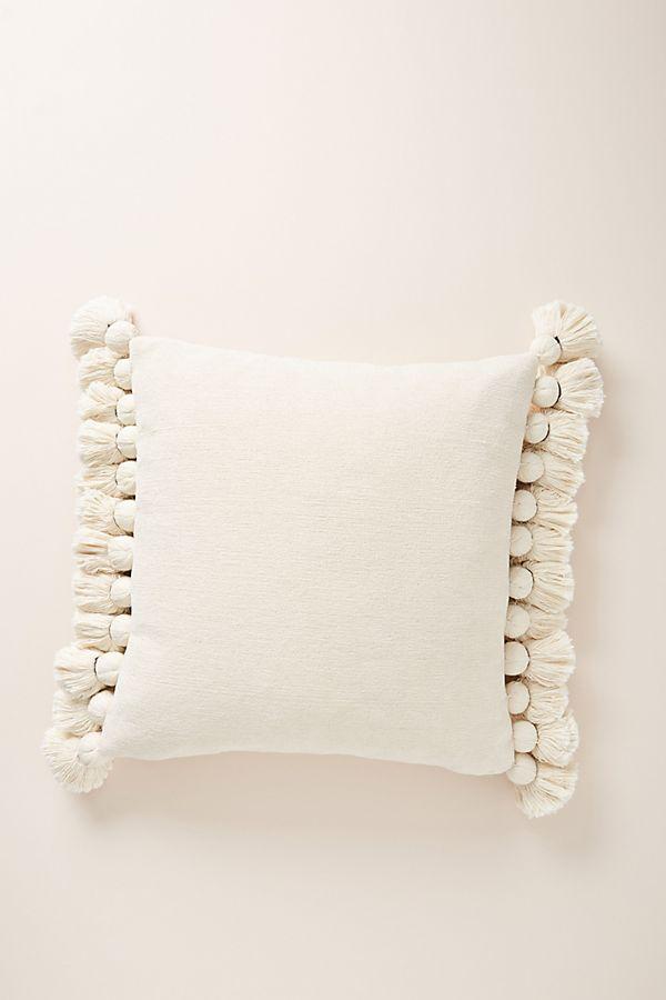 Slide View: 1: Tasseled Chenille Nadia Pillow