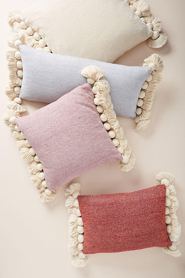 Slide View: 4: Tasseled Chenille Nadia Pillow
