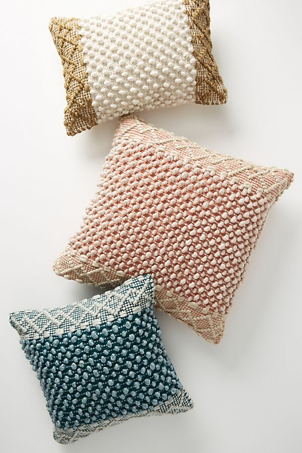 Slide View: 4: Joanna Gaines for Anthropologie Textured Eva Pillow