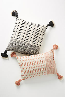 Slide View: 4: Joanna Gaines for Anthropologie Tasseled Olive Pillow