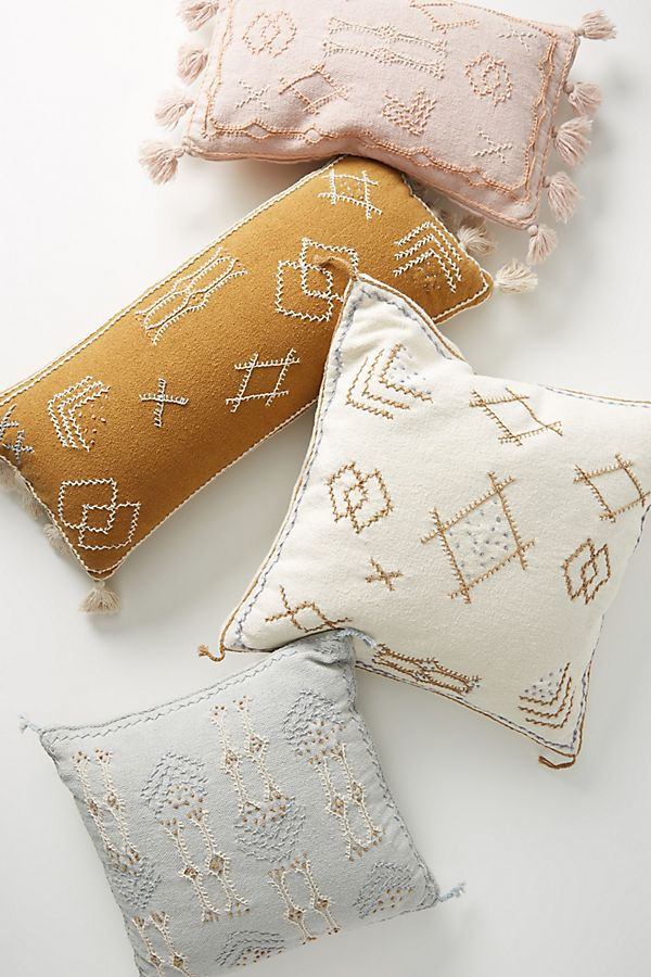 Slide View: 4: Joanna Gaines for Anthropologie Embroidered Sadie Pillow