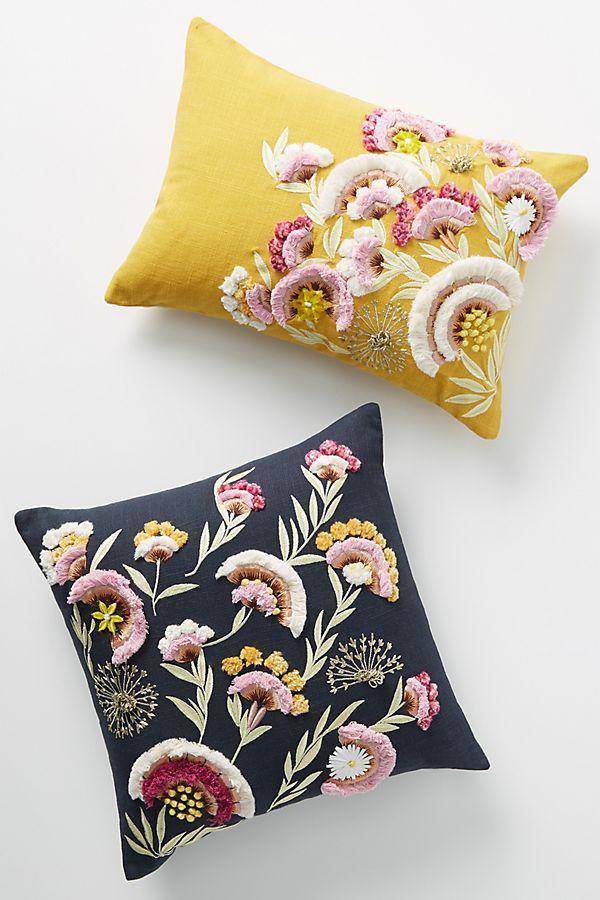 Slide View: 1: Olga Prinku Embroidered Odette Pillow