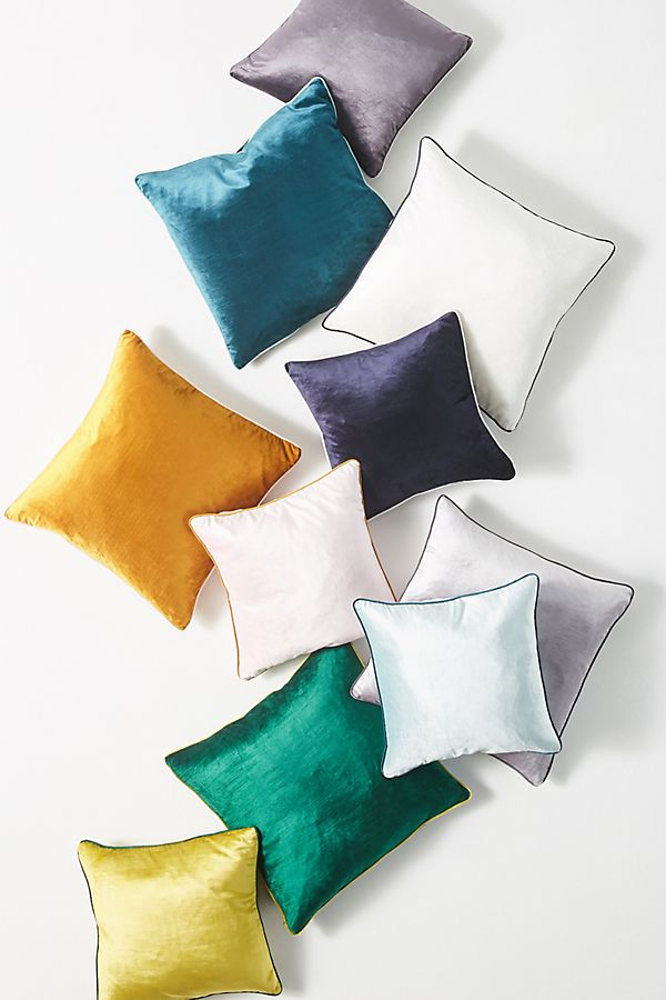 Slide View: 1: Adelina Slub Velvet Pillow