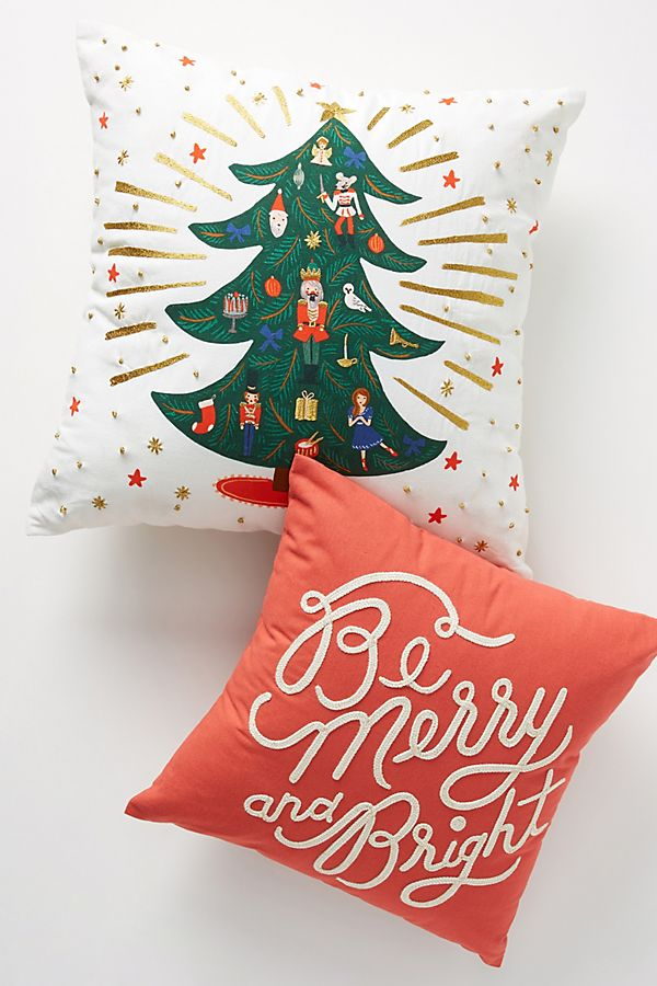 Slide View: 2: Rifle Paper Co. for Anthropologie Holiday Cheer Pillows