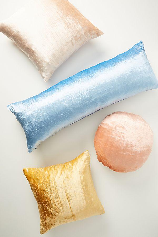 Slide View: 2: Flower-Dyed Velvet Pillow