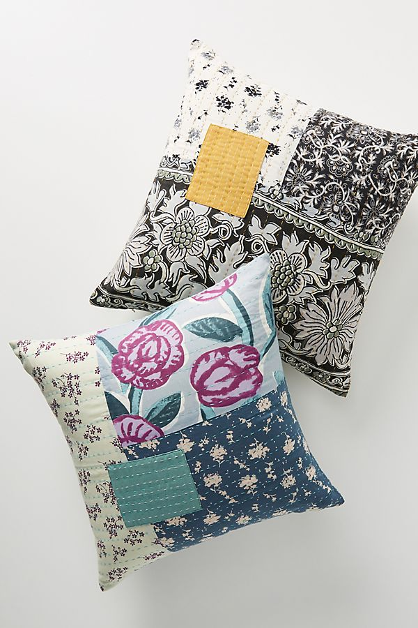 Slide View: 1: Marina Patchwork Pillow