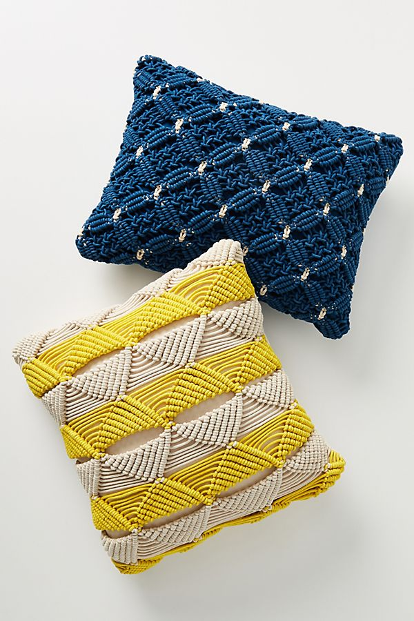 Slide View: 2: Macrame Sofia Pillow