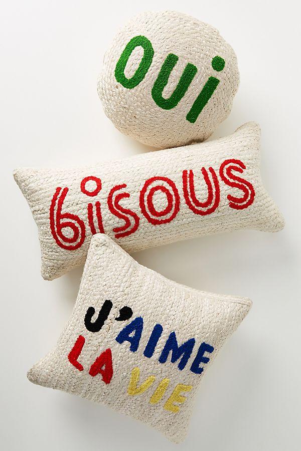 Slide View: 1: Clare V. for Anthropologie Maisonette Jute Pillow