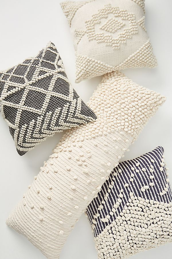 Slide View: 4: Textured Bobble Pillow