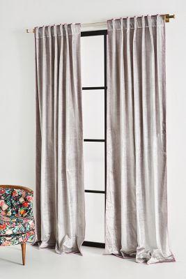 Petra Velvet Curtain Anthropologie
