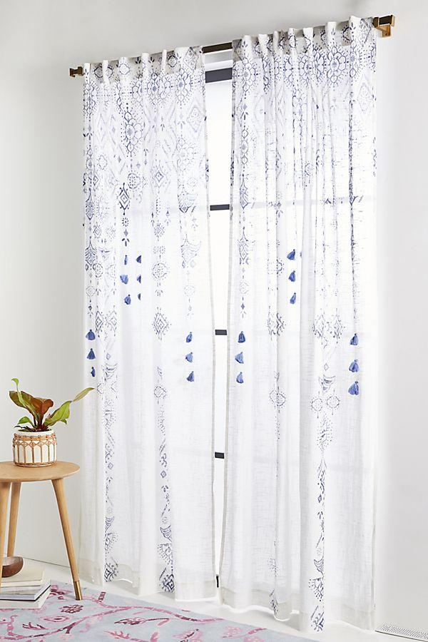 Slide View: 1: Tasseled Nesrin Curtain