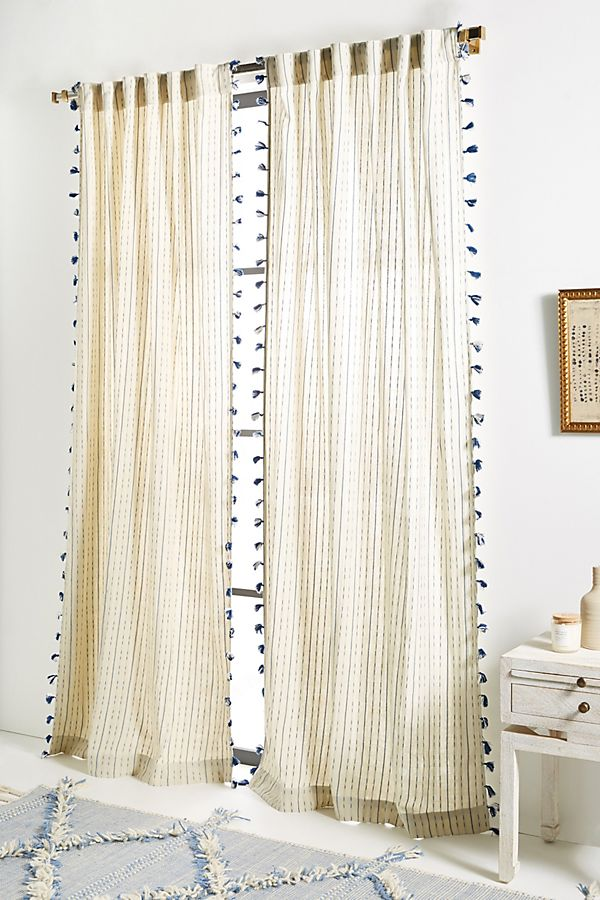 Slide View: 1: Tasseled Eisha Curtain