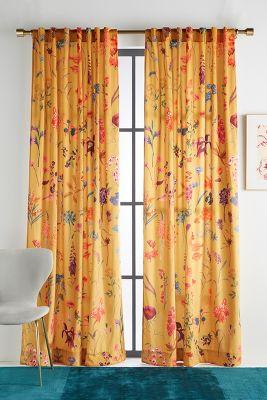 Layne Velvet Curtain by Anthropologie