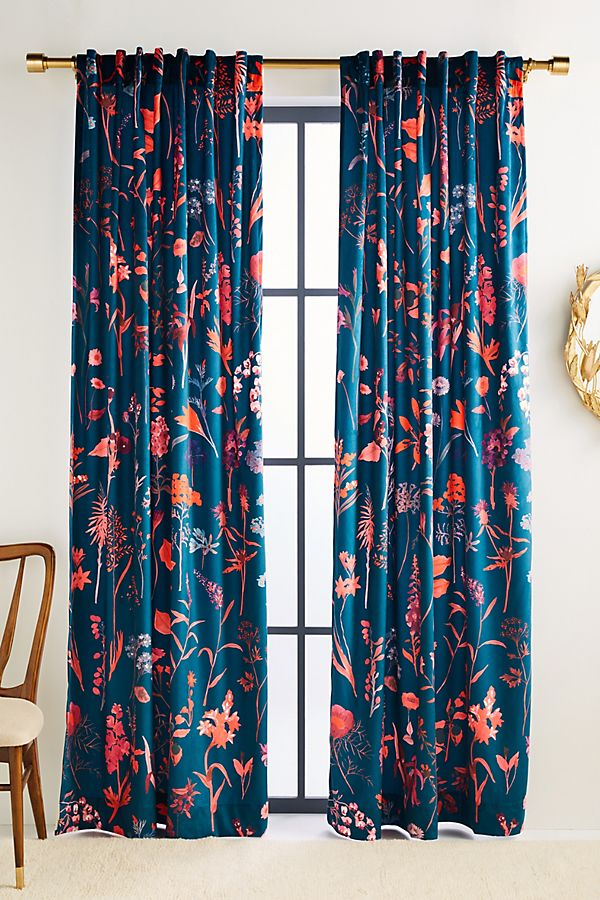 Slide View: 1: Layne Velvet Curtain