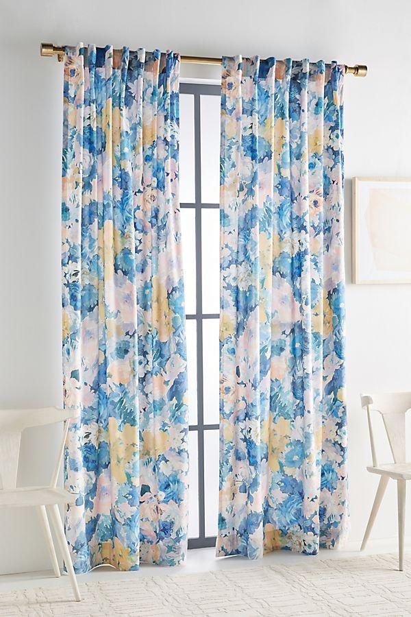 Slide View: 1: Helen Dealtry Velvet Lilac Curtain