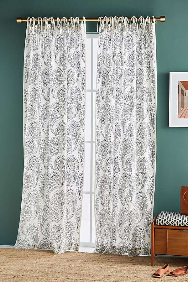 Slide View: 1: Jodi Embroidered Curtain
