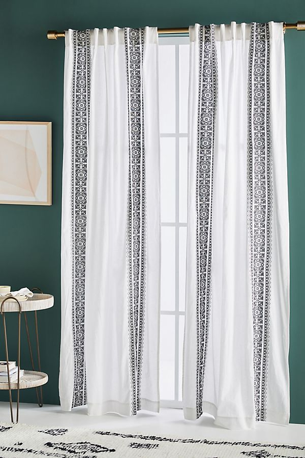 Slide View: 1: Camilla Embroidered Curtain