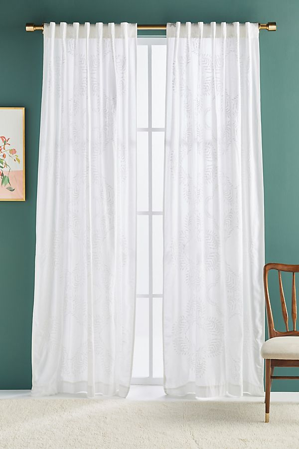 Slide View: 1: Embroidered Aeria Curtain