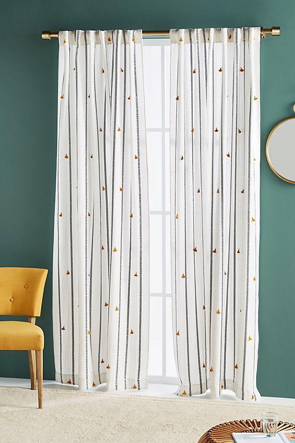Slide View: 1: Tasseled Nara Curtain