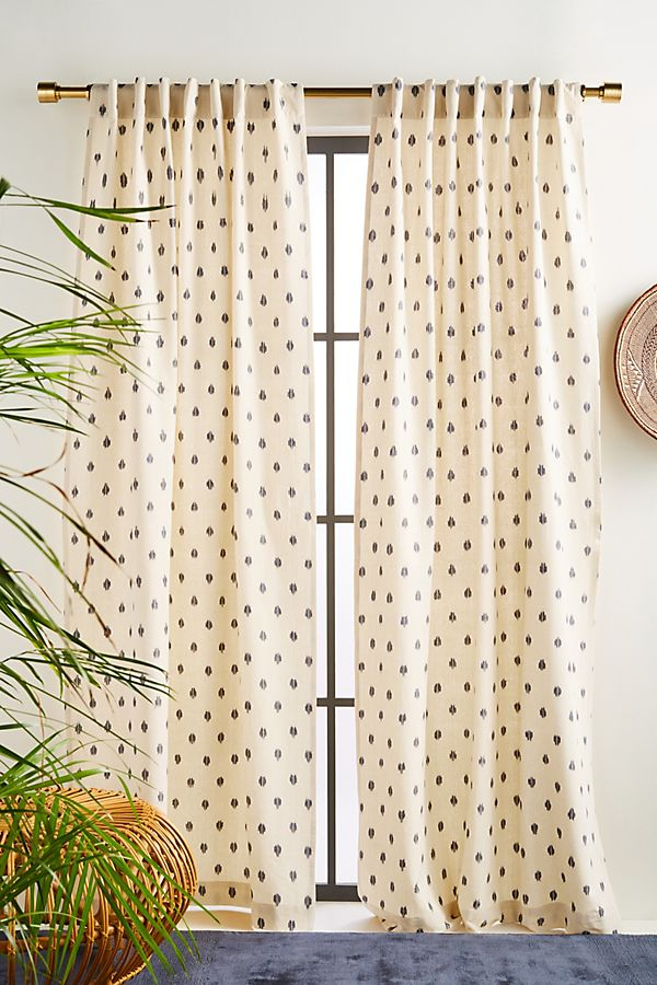 Slide View: 1: Peyton Ikat Curtain