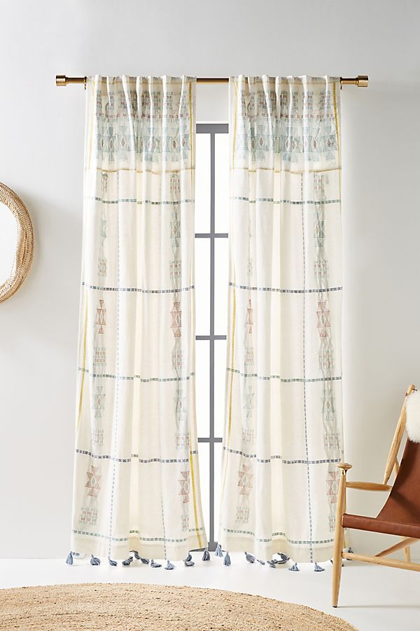 Slide View: 1: Amina Embellished Curtain